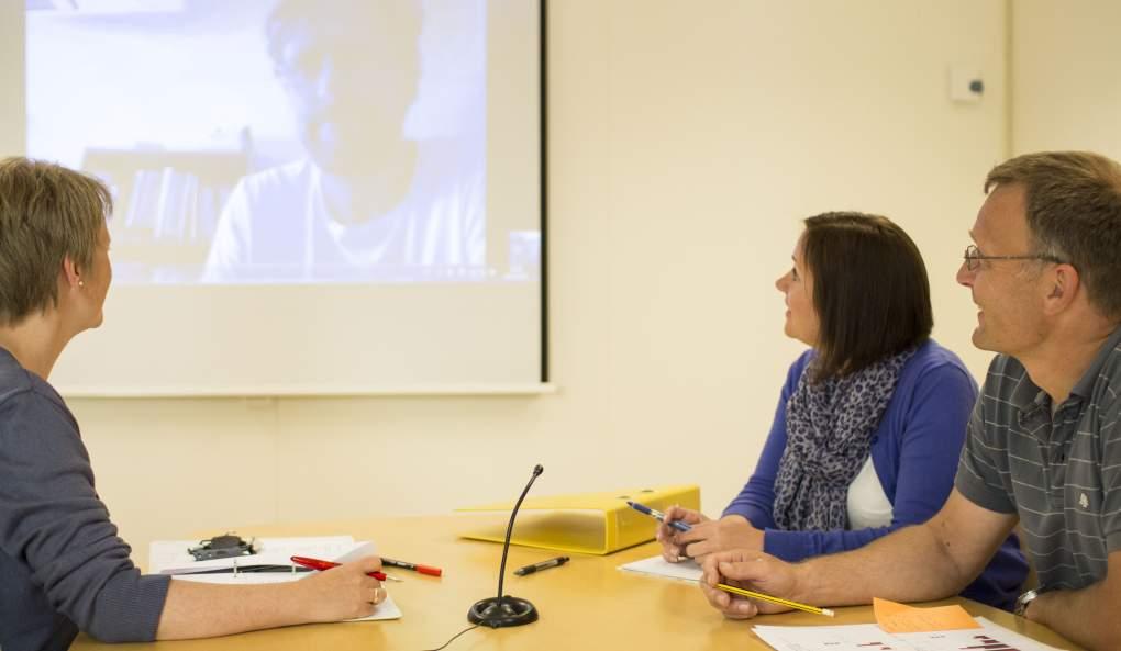 Illustrasjon videokonferanse