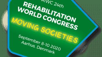 Bildet viser logoen til verdenskongressen i rehabilitering 2020