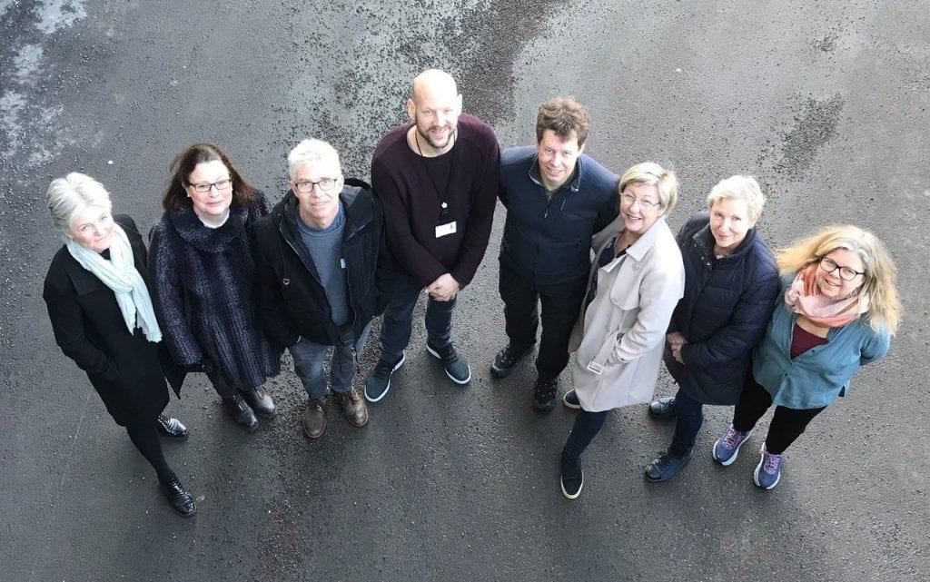 Bildet viser ressursgruppa som har planlagt Åpen arena 2020