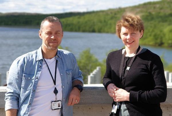 Are Dragland og Aina Kristoffersen på Finnmarkssykehuset